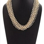 Multilayer Pearl Cluster Necklace
