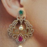 Ruby Emerald Earrings from Brundavan Jewellery