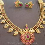 Latest Model Ruby Emerald Mango Necklace