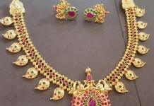 Latest Model Ruby Emerald Mango Necklace