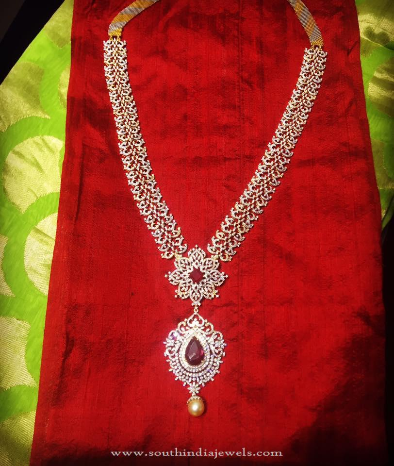 Simple Diamond Necklace from Parnicaa