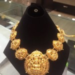 Gold Temple Lakshmi Necklace with Weight Details