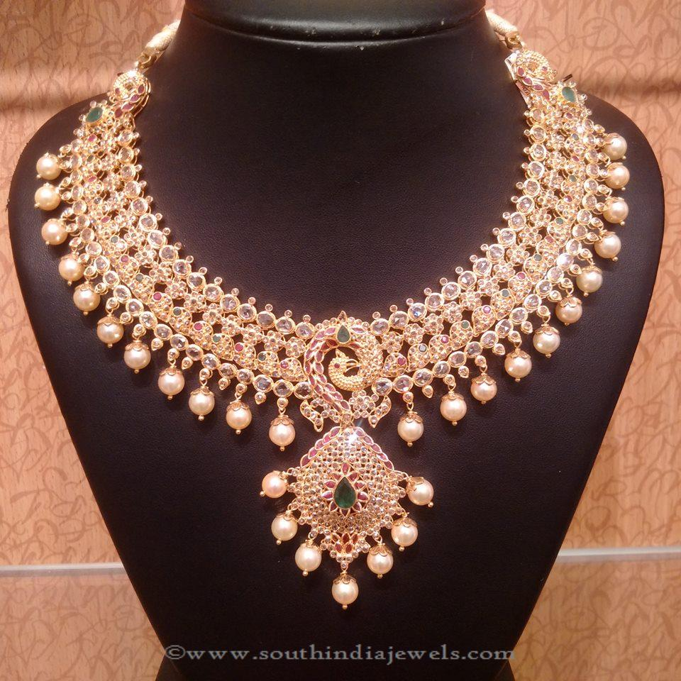 Uncut Diamond and Emerald Necklace from NAJ