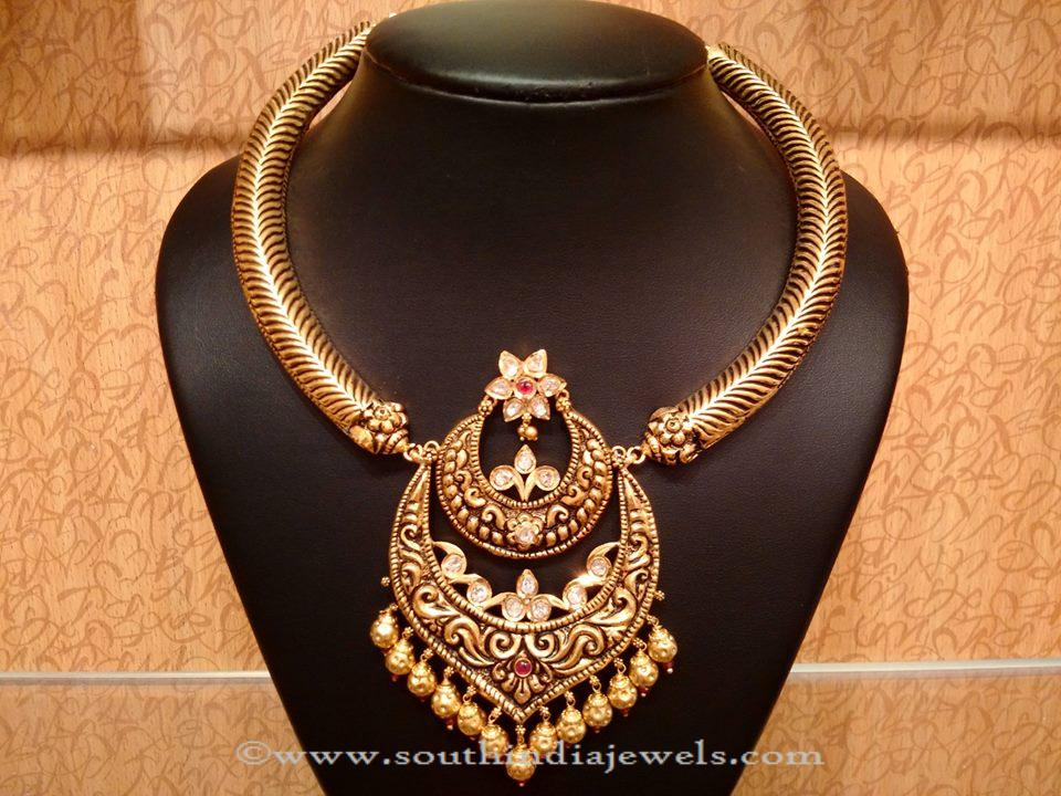 Gold Uncut Diamond Necklace From NAJ