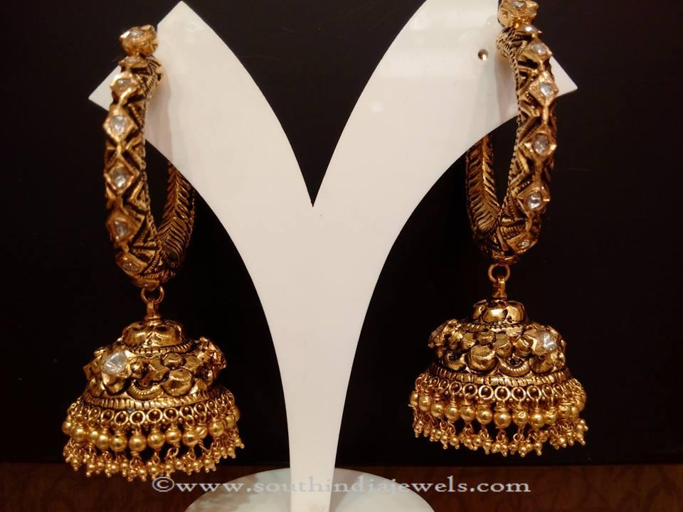 Uncut Diamond Jhumkas from NAJ