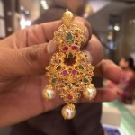 Gold Uncut Diamond Earrings with Weight Details