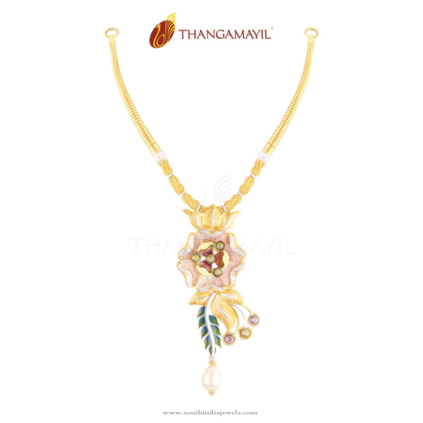 22kt Necklace Design From Thangamayil Jewellery South India Jewels