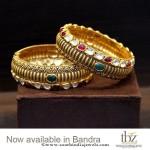 22K Gold Kundan Bangles From TBZ