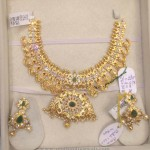 78 Grams Gold Mango Necklace Set