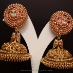 Gold Antique Ruby Jhumkas from NAJ