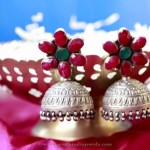 Antique Silver Ruby Jhumka