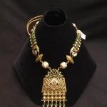 Designer Gold Kundan Necklace from PSJ