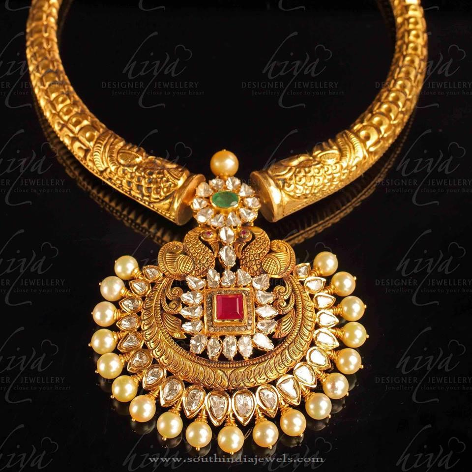 gold antique necklace from hiya designer jewellery south