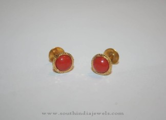 Gold Coral Baby Ear Stud