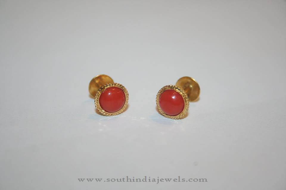 Gold Ear Studs Designs ~ Page 2 of 3 ~ South India Jewels
