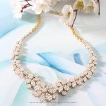 Gold Floral Diamond Necklace from Manubhai