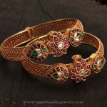 Latest Model Gold Kemp Bangle from Karpagam Jewellers