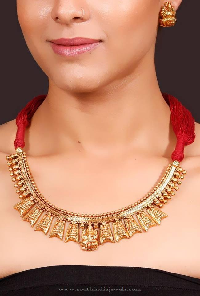 Gold Plated Antique Necklace from Nnazaquat