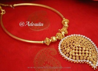 Gold Plated Mango Necklace from Advaita