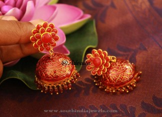 Gold Plated Pachi Jhumka