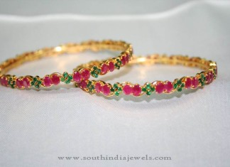 Gold Ruby Emerald Bangle from Prakruthi