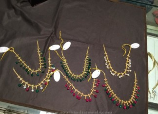 Gold Short Beaded Necklace