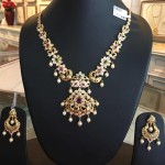 Gold Short Necklace From Bhavani Jewellers