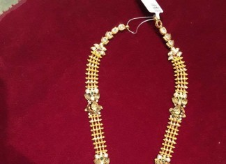 Gold Temple Necklace from Bhavani Jewellers