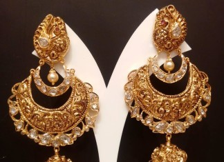 Gold Uncut Diamond Jhumka from NAJ