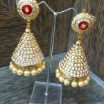 Hyderabad Pearl Jhumka Earrings