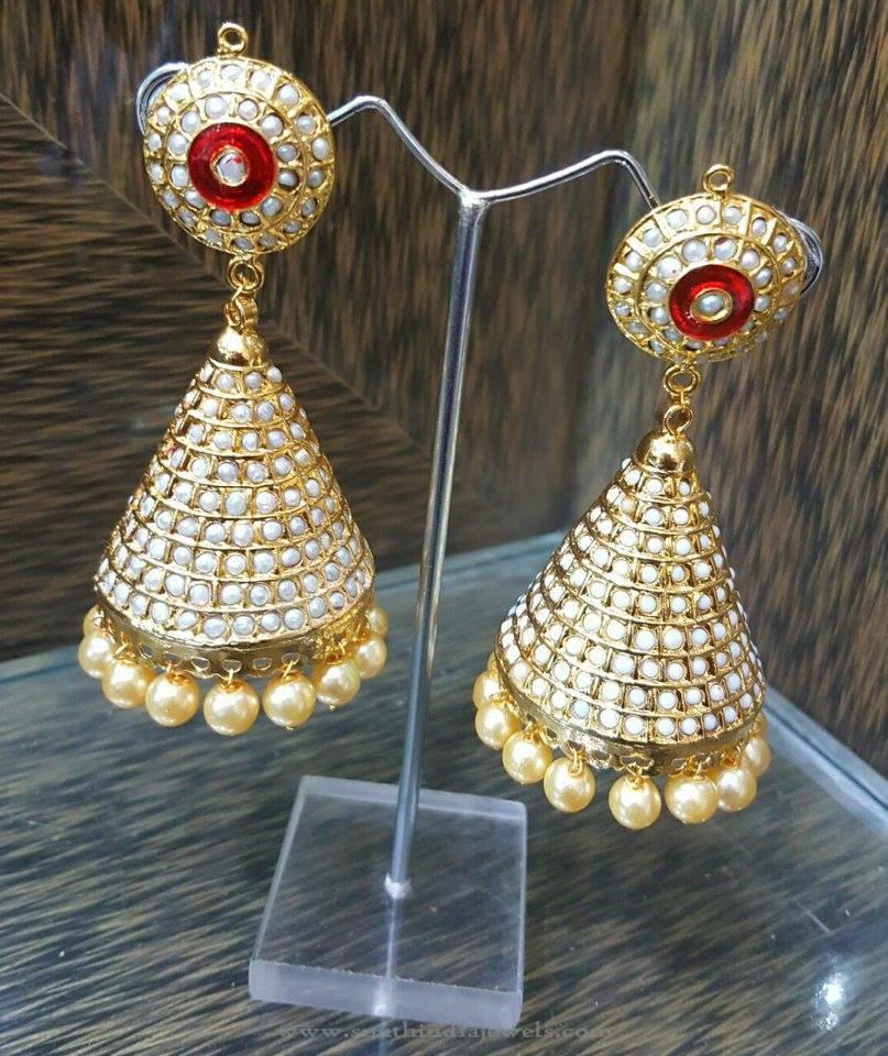 Hyderabad Pearl Jhumka Earrings