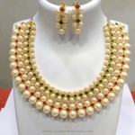 Hyderabad Pearl Choker Necklace Set