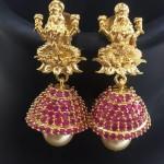 Imitation Ruby Lakshmi Jhumkas