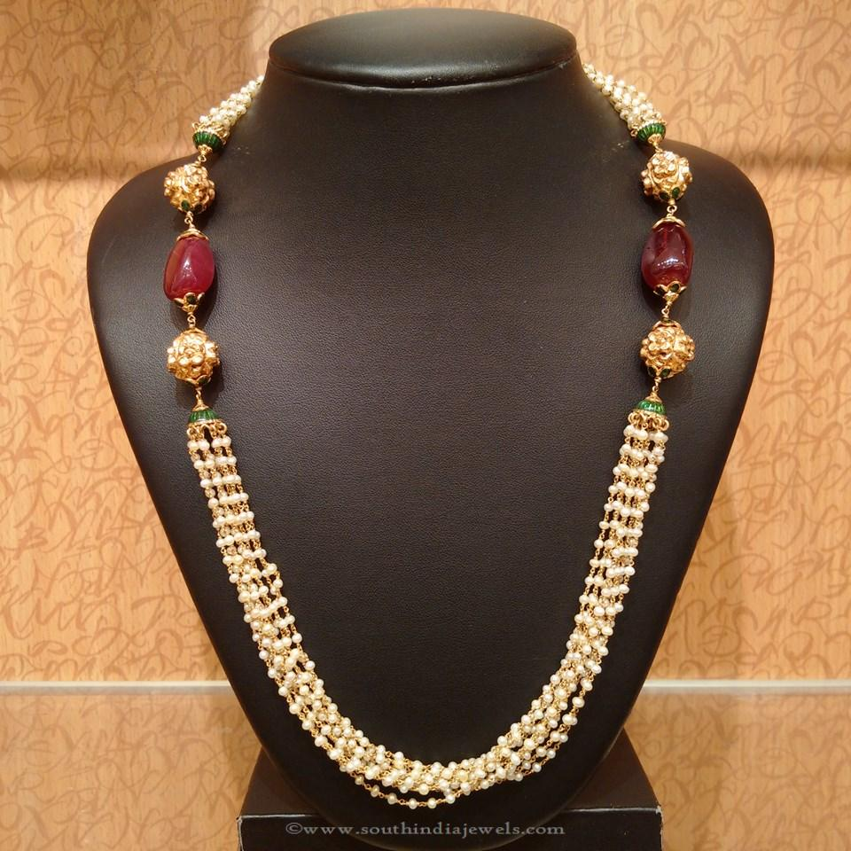 Light Weight Gold Pearl Mala from NAJ
