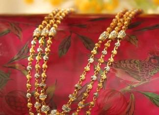 Multilayer Gold Ball Haram from Manubhai