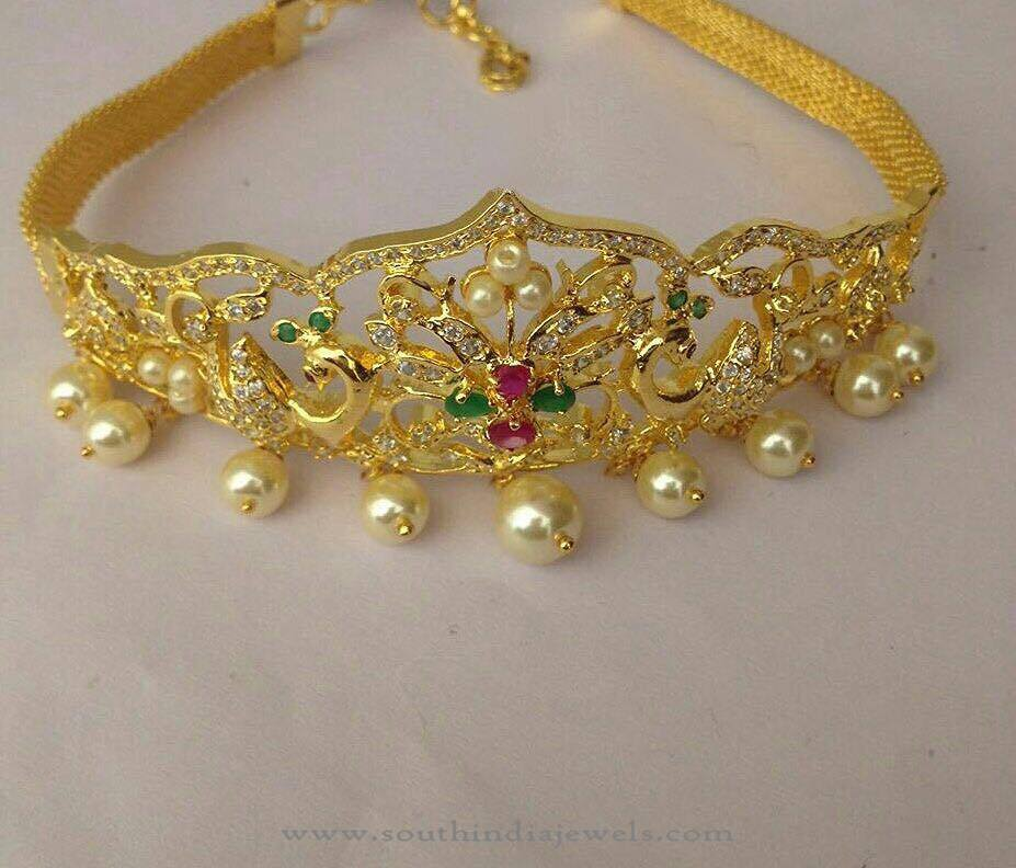 One Gram Gold Stone Armband South India Jewels