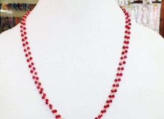 Red Beaded Necklace from Amithi
