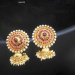 Antique Ruby Pearl Jhumka from Amore