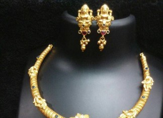Short Lakshmi Necklace Set from RS Designs