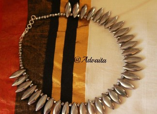 Silver Leaf Necklace from Advaita