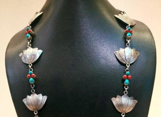 Silver Long Necklace from Elegance