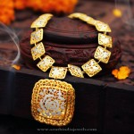 Trendy Gold Designer Necklace from Manubhai