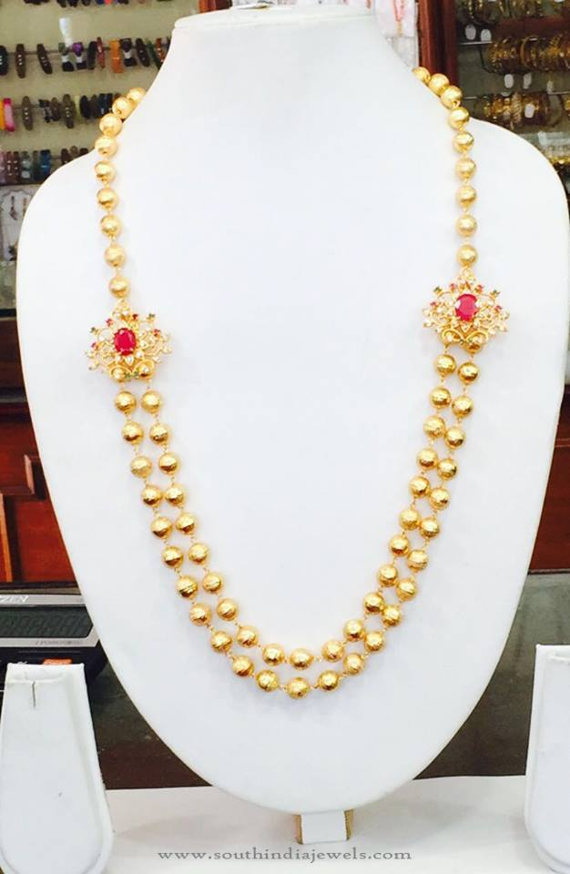 Two Layer Side Mogappu Necklace From Amithi
