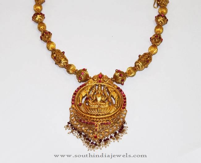 Gold antique necklace set from karpagam jewellers south india jewels gold antique necklace set from karpagam jewellers aloadofball Image collections