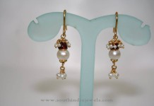 Gold Pearl Ruby Drops