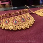 64 Grams Gold Ruby Choker Necklace from PSJ
