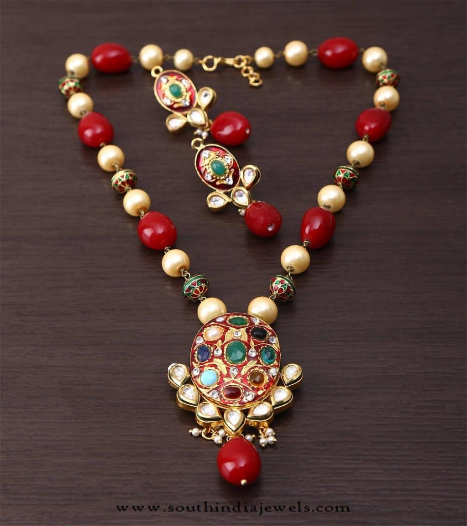 Beaded Imitation Necklace from Indiaroots