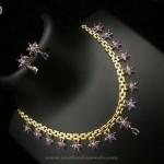 Imitation Necklace set with Blue Stones