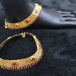 Bridal Ruby Anklet Design