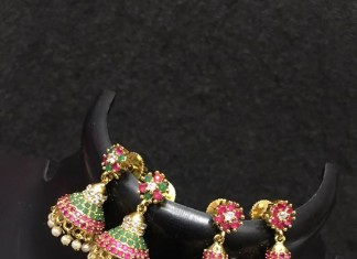 Colorful Gold Plated Jhumka